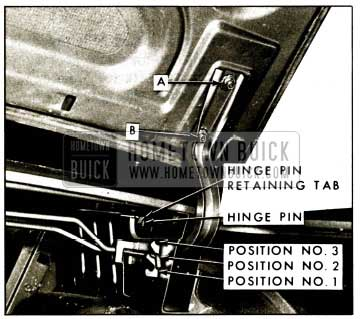 1959 Buick Rear Compartment Lid Hinge and Torque Rod