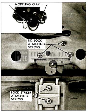 1959 Buick Rear Compartment Lid Lock and Striker