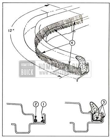 1959 Buick Rear Compartment Weatherstrip Installation