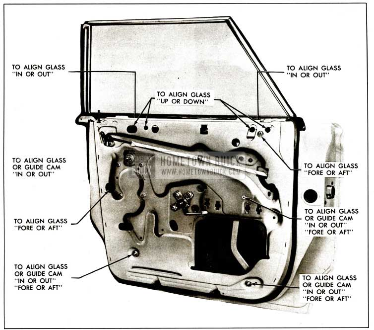 1959 Buick Rear Door Assembly Adjustment