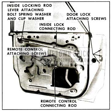 1959 Buick Rear Door Lock Assembly Removal