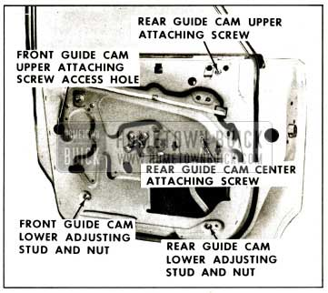 1959 Buick Rear Door Window Adjustment - Studs and Nuts