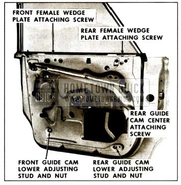 1959 Buick Rear Door Window Adjustments Guide