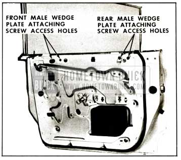 1959 Buick Rear Door Window Adjustments Illustration