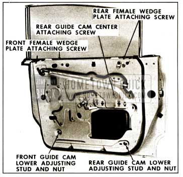 1959 Buick Rear Door Window Adjustments Instructions