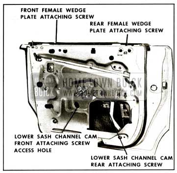 1959 Buick Rear Door Window Assembly Removal Illustration