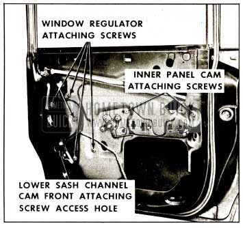 1959 Buick Rear Door Window Regulator Removal Instructions