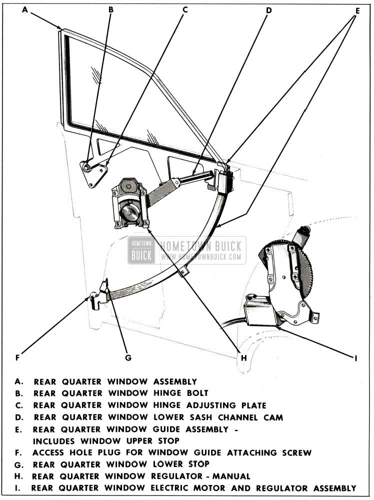1959 Buick Rear Quarter Window Assembly