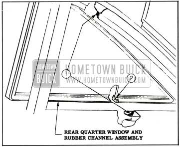 1959 Buick Rear Quarter Window Sealing 19 Styles