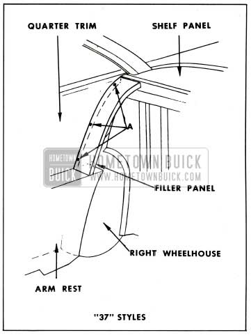1959 Buick Rear Seat Back to Quarter Panel Filler Panel Installation 37 Styles
