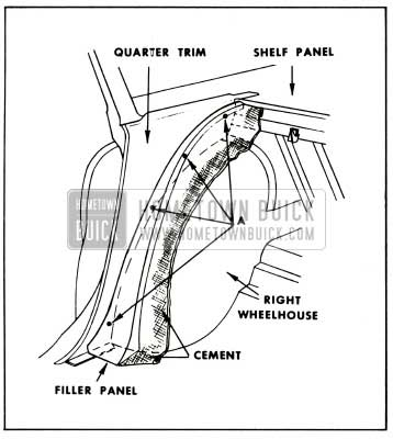 1959 Buick Rear Seat Back to Quarter Panel Filler Panel Installation 39 Styles