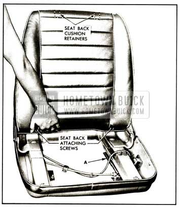 1959 Buick Removal of Bucket Seal Back Cushion Illustration