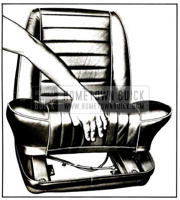 1959 Buick Removal of Bucket Seat Cushion