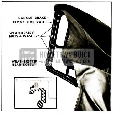 1959 Buick Side Roof Rail Weatherstrip