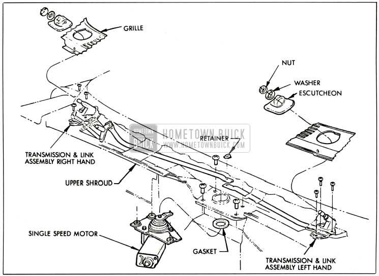 1959 buick windshield wiper - single speed