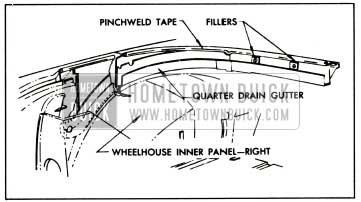 1959 Buick Tacking Back Curtain To Rear Trim Stick