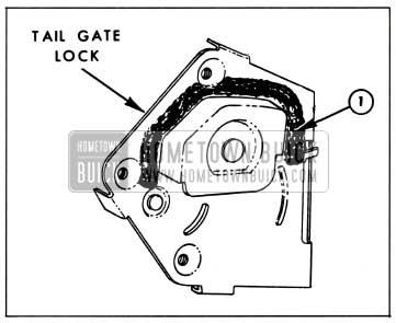 1959 Buick Tail Gate Lock Sealing