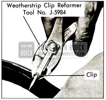 1959 Buick Weatherstrip Clip Reforming Tool