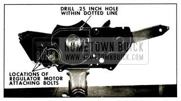 1959 Buick Window Regulator Motor Removal