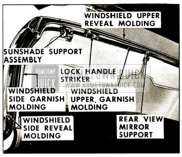 1959 Buick Windshield Garnish Mouldings-Convertibles