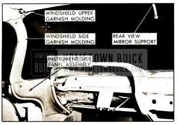 1959 Buick Windshield Garnish Mouldings