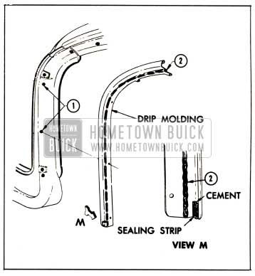 1959 Buick Windshield Pillar Drip Moulding Illustration
