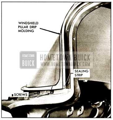 1959 Buick Windshield Pillar Drip Moulding