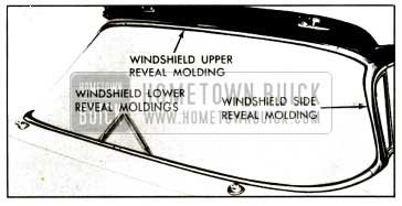 1959 Buick Windshield Reveal Moldings-Convertibles