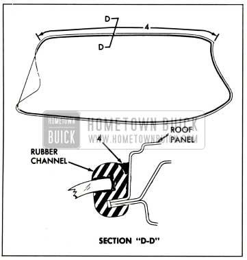 1959 Buick Windshield Sealing Rubber