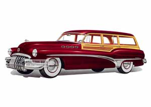 1950 Buick Roadmaster Estate Wagon - Model 79R HB