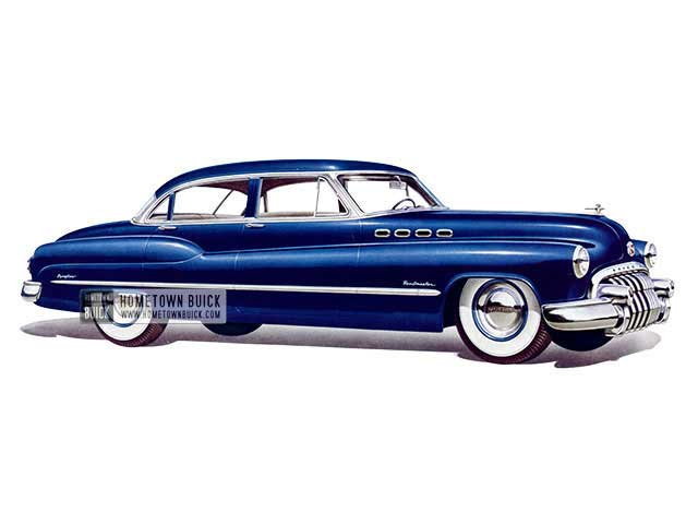 1950 Buick Roadmaster Tourback Sedan - Model 72 HB