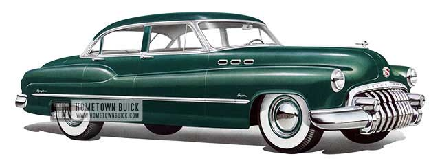 1950 Buick Super Tourback Sedan - Model 52