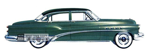 1953 Buick Roadmaster Riviera Sedan - Model 72R