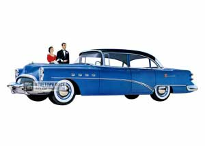 1954 Buick Roadmaster Riviera Sedan - Model 72R HB