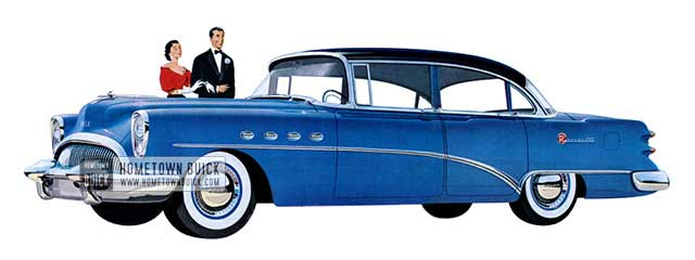 1954 Buick Roadmaster Riviera Sedan - Model 72R