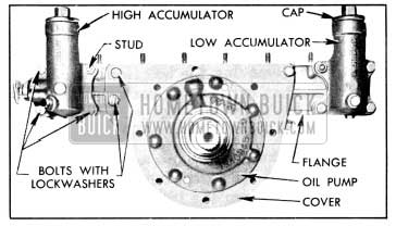 1956 Buick Accumulator Body and Reaction Shaft Flange Attaching Screws