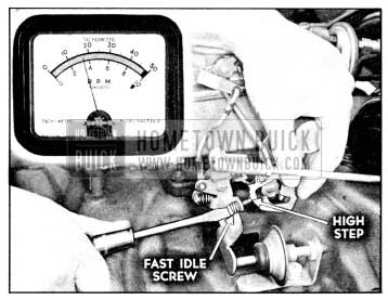 1956 Buick Adjusting Fast Idle