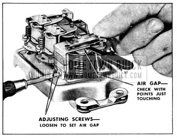 1956 Buick Adjustment of Cutout Relay Air Gap
