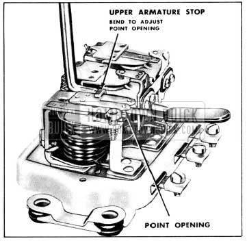 1956 Buick Adjustment of Cutout Relay Contact Point Openings