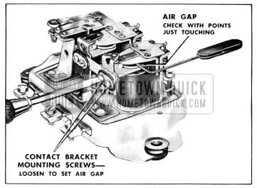 1956 Buick Adjustment of Voltage Regulator Air Gap