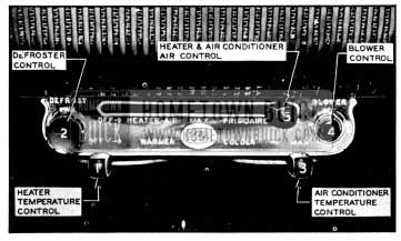 1956 Buick Air Conditioner Control Panel
