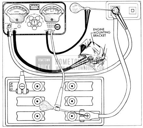 1956 buick battery and cables hometown buick Ford Brake System Diagram 1956 buick battery cable test connections