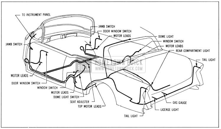 1956 Buick Body Wiring Circuit Diagram-Models 56C, 76C-Styles 4567X, 4767X
