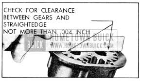 1956 Buick Checking Clearance of Gears at Cover