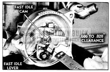 1956 Buick Checking Fast Idle Cam Adjustment