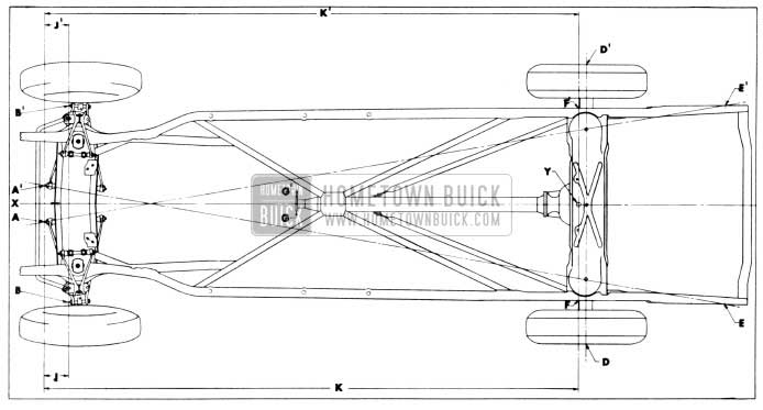 1956 Buick Checking Points for Frame and Suspension Alignment
