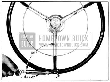1956 Buick Checking Thrust Bearing or Lash Adjustment with Scale