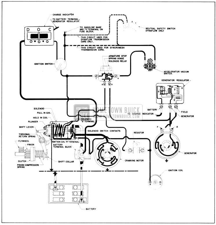 1956 buick cranking system - starter