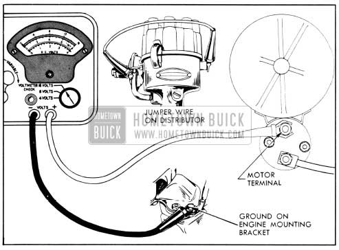 1956 Buick Cranking Voltage Test Connections