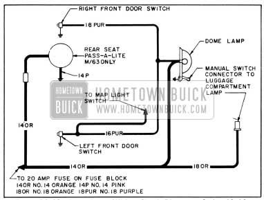 1956 Buick Dome Lamp Wiring Circuit Diagram-Series 40-60